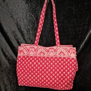 Vera Bradley Nantucket Red Tote Bag